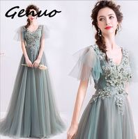 Genuo New 2019 Women Sexy Irregular Neck Off Shoulder Backless Dresses Female Elegant Solid Color Maxi Dress 1207