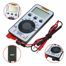 Pocket LCD Digital Multimeter AN101 AC/DC Backlight Automatic Portable Meter With 2 Test Leads For Teaching Instrument