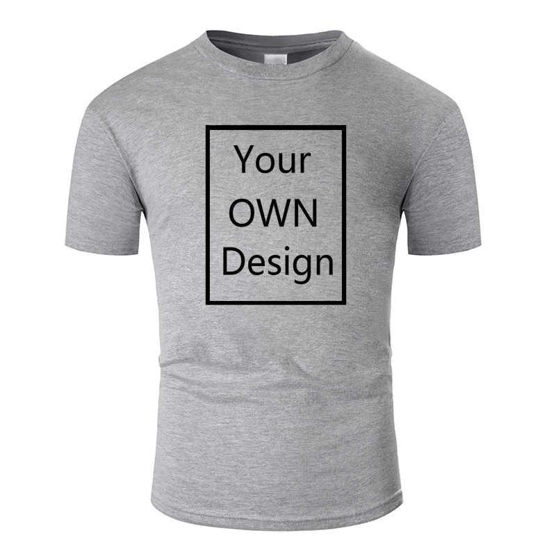 การออกแบบของคุณเองยี่ห้อโลโก้/รูปภาพผู้ชายและผู้หญิง DIY Cotton T เสื้อสั้นเสื้อลำลองเสื้อยืด Tops TEE 13 สี tm001