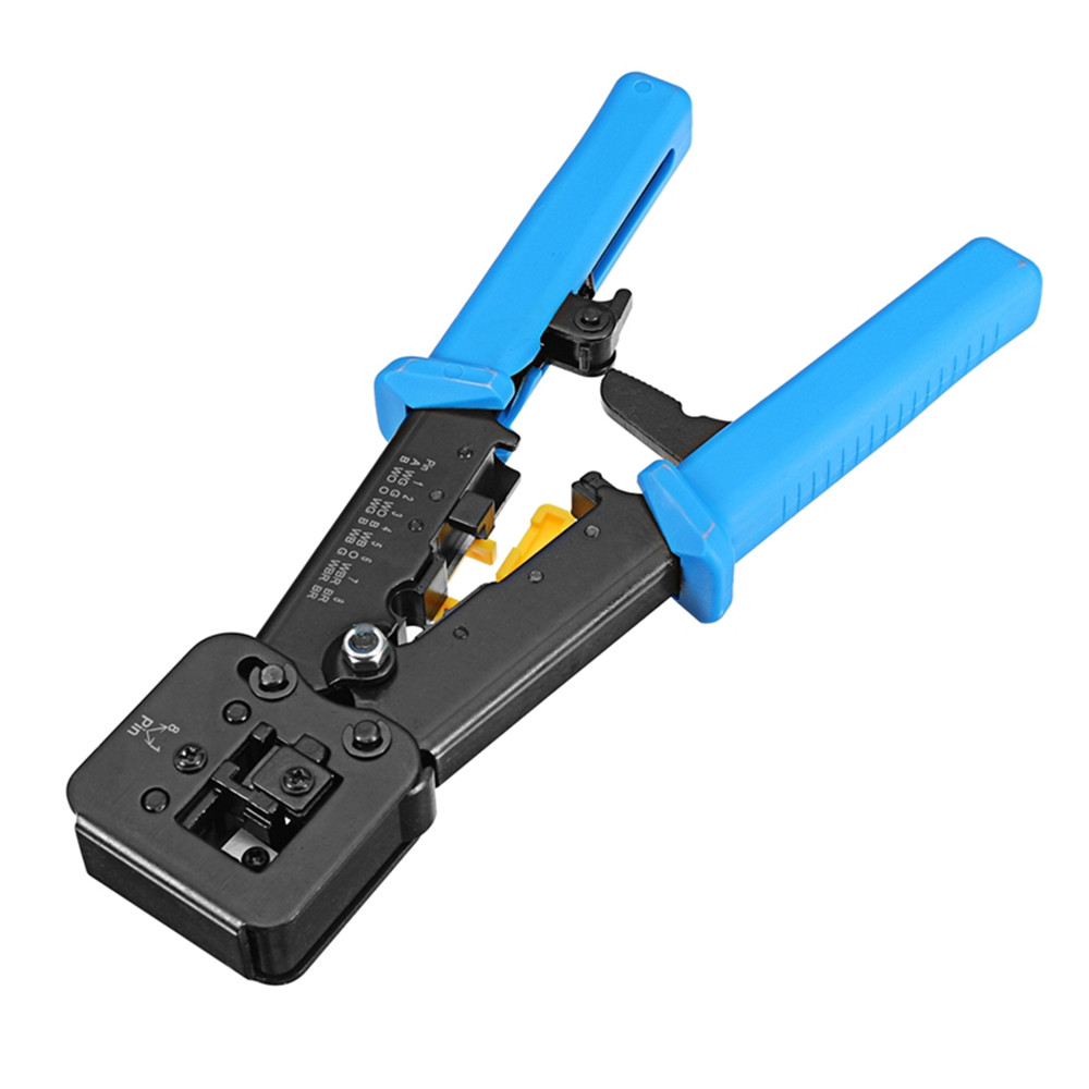 Multi-kinetic Energy EZ Network Clamp RJ11 RJ45 6 P 8 P Network Cable Pliers Multi-function Drilling Cutter Crystal Head Frieze