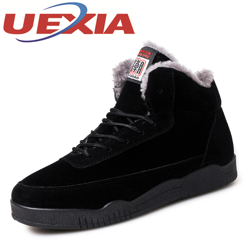 Men's Casual High Top Cotton Shoes Plush Ankle Boots Outdoor Warm Sport Shoes Winter Sneakers Mens Trainers Shoes Zapatos Hombre plus size 46 mens casual high top shoes winter warm plush ankle boots men shoes outdoor fashion cotton shoes mountain zapatos