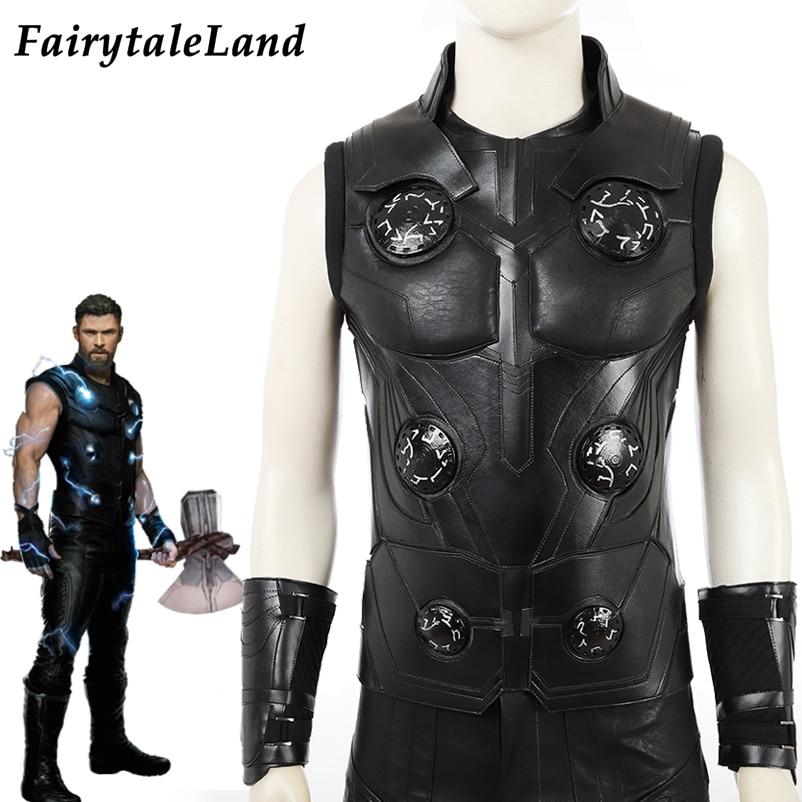 Thor Odinson Costume Avengers Infinity War Comic Men Adult Halloween Costume