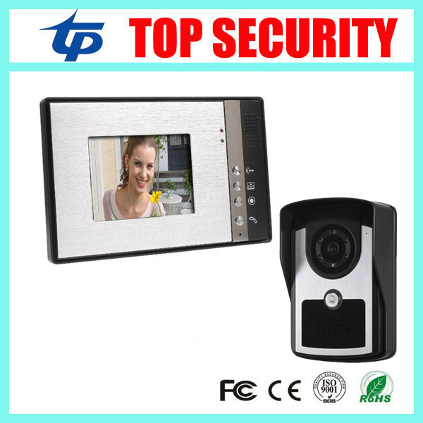 New arrival IP65 waterproof 7 inch video door phone villa apartment acccess control system wired video intercom smart home bell 7 inch password id card video door phone home access control system wired video intercome door bell