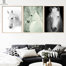 Wall Art Modern Canvas Posters Strong White Horses Running Decorative Paintings Unframed Print Picture Home Living Room Decor sunset horses pattern unframed decorative canvas paintings