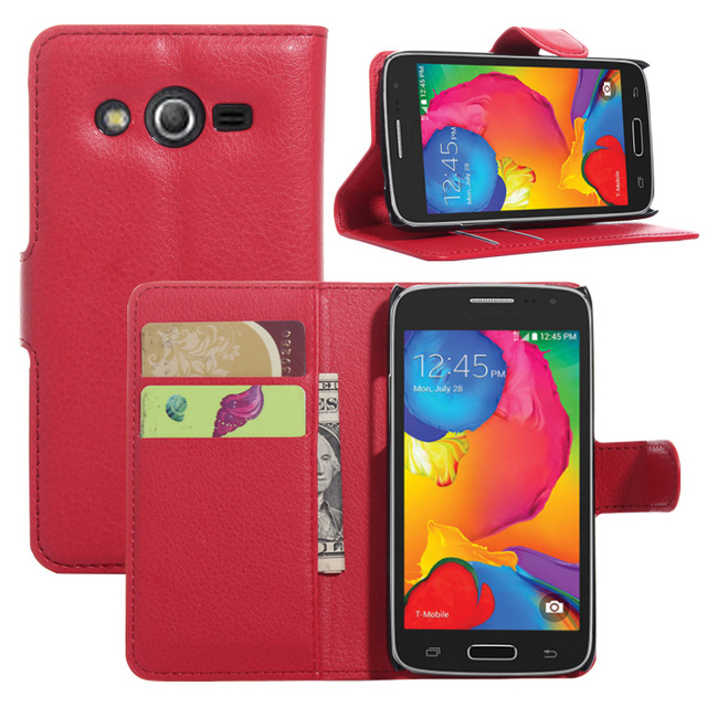 huge selection of 59f57 f7f4b US $1.49 25% OFF|Colored Littch Style PU Leather Case Cover For Samsung  Galaxy Avant G386T Wallet Stand Phone Back Cover Case Mobilskal Fashion-in  ...