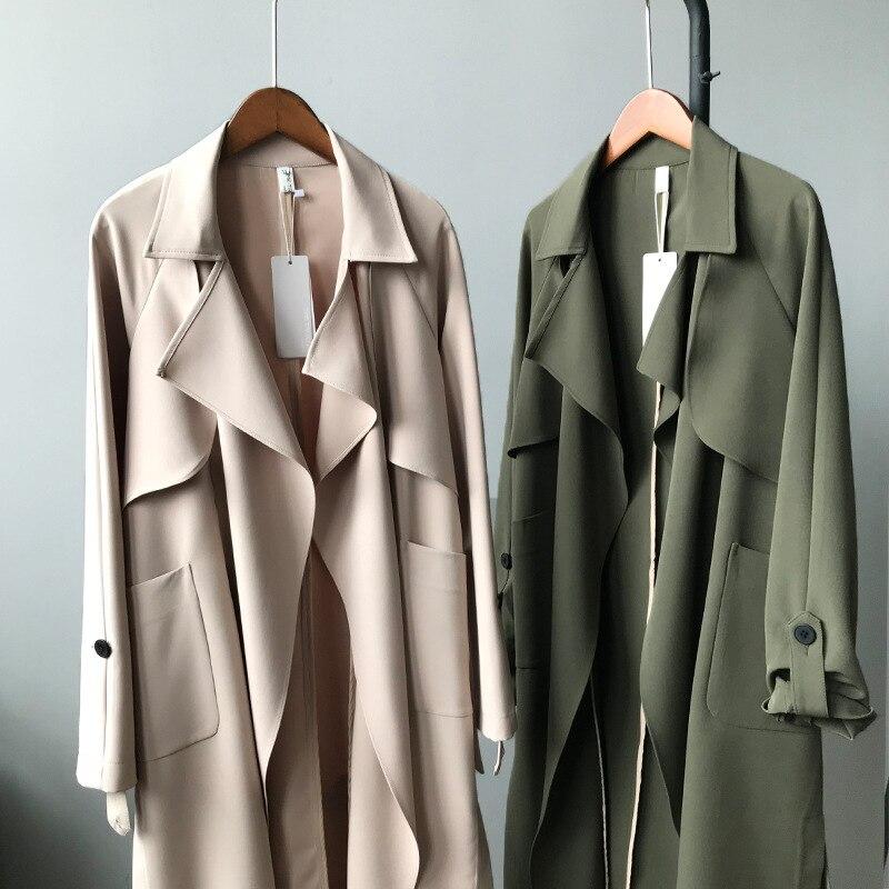 Women's Casual Loose Design Trench Coat 20