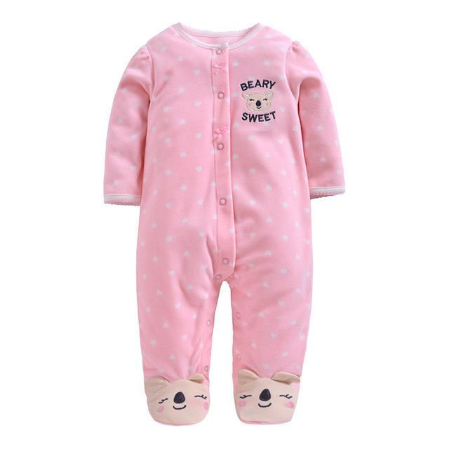 2019 new Winter Fleece baby clothes baby girls boys  Long sleeves bodysuit baby boy jumpsuit