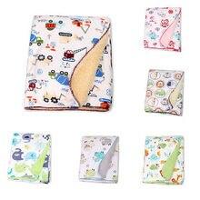 High Quality Soft Warm Fleece Newborn Baby Warm Soft Bassinet Blankets Cartoon Design Sleeping Swaddle