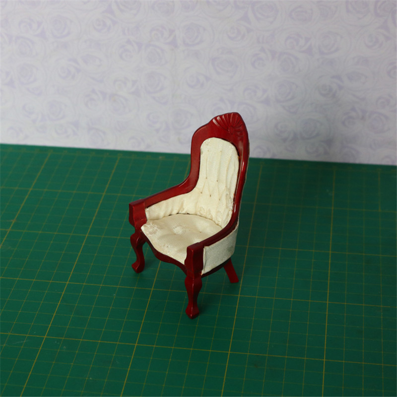 Doub K 1:12 furniture toy miniature doll wooden chair Doll house for girls children kid pretend play toys gifts free shipping