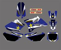 Motorcycle TEAM GRAPHICS & BACKGROUNDS DECALS STICKERS Kit for Yamaha YZ85 YZ 85 2002 2014 motocross PIT Dirt Bike