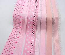 Pinks Series Tapes Grosgrain Printed Polka Dot Ribbons Gingham Checked Ribbon 100% Polyester Fabric Decor Accessoires(China)