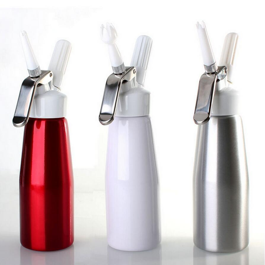 Free Shipping 500ML Artisan Whipped Cream Dispenser Cream Whipper with 3 Decorating Nozzles 00230