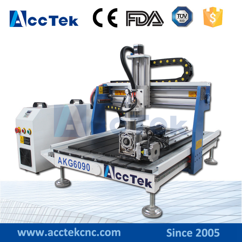 CE ISO! Cheap AccTek China 3 Axis 4 Axis Woodworking Cnc Router 6090