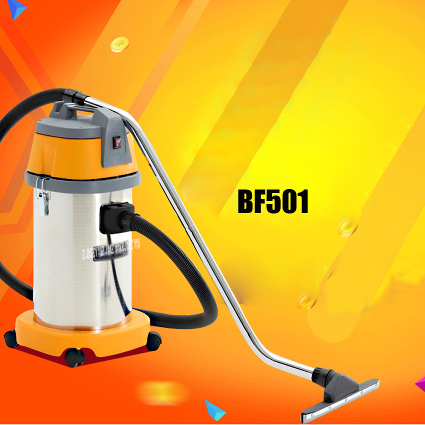 1PC The vacuum cleaner High-power household&Car barrel type vacuum cleaner wet and dry vacuum cleaner BF501 jiqi vacuum cleaner household handheld wet and dry blow large power ultra strong silent barrel type 15l large capacity