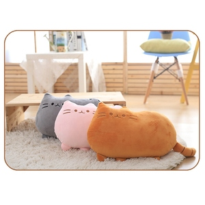 Image 1 - 25*20 Cm Kawaii בפלאש צעצוע חתול כרית כותנה ביסקוויטים בפלאש בעלי החיים בובת צעצועי גדול קריקטורה כרית כרית מתנה
