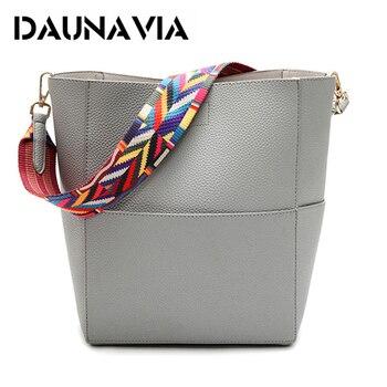 DAUNAVIA luxe femmes sacs à main célèbre Designer marque femmes sacs à bandoulière avec sangle colorée Pu cuir sac femmes messenger sac