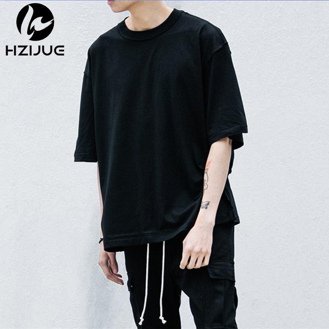 Estilo quente de verão t-shirt streetwear half manga o pescoço tops tees kanye oversize homem justin bieber tshirts urbanos clothing