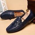 Primavera/Verano Zapatos de Los Hombres de Cuero Genuino Suave Mocasines Para Hombre Zapatos Casuales de Cuero de Grano Completo de Los Hombres Resbalón en Trabajo Hecho A Mano Zapatos de conducción