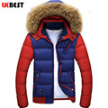 LKBEST 2017 winter jacket men fur Hooded winter down coat cotton men parka Thick Warm men outwear brand-clothing (PY617L)