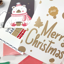 30pcs Christmas friens visit gold postcard say love secret  Greeting Cards gift cards party invitation