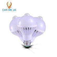 Canmeijia 220V E27 LEDs PIR Motion Sensor lamp led bulbs light 5W