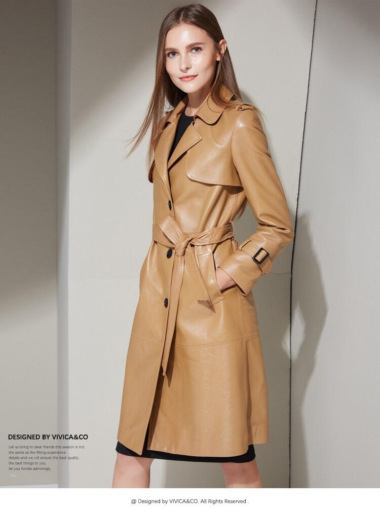 Et Peau En Cuir Style Dames Nouveau Printemps La Garniture Des 2017 Tranchée Manteau Automne qxSY5wz6a