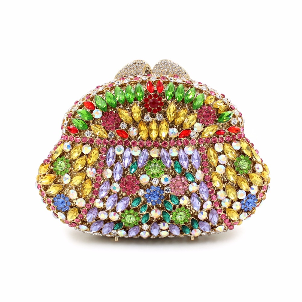2017 New Colorful Day Clutches Luxury Full Diamonds Women Bag Ladies Evening Bags Handbags Purses Hollow Drill Shoulder Handbag 2017 new colorful diamonds women bag single shoulder handbag luxury ladies evening bags handbags purses female day clutches