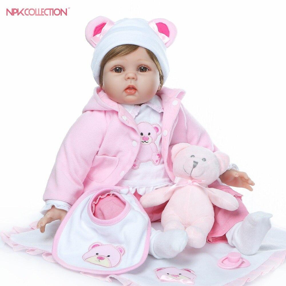 Bebes reborn silikon Reborn Baby Doll miękkie realistyczne Bebe dziewczyna lalki żywe prawdziwe dziecko realistyczne urodziny prezent na Boże Narodzenie zabawki w Lalki od Zabawki i hobby na  Grupa 1