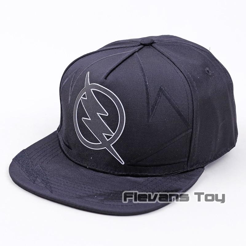 Cool Fashion Brand DC Comics The Flash Black Baseball Cap Cotton Caps Hip Hop Snapback Hats