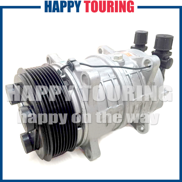 US $110 67 7% OFF| AC Compressor Zexel TM16 HD Aircon Compressor for  Universal freezer truck Carrier Thermo King Hubbard 10356120 8800022 PV8  12V -in