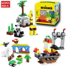 625Pcs Building Blocks City DIY Creative Bricks Toys Educational Wange Model Toys for children Compatible lepin technic купить недорого в Москве