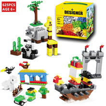 625Pcs Building Blocks City DIY Creative Bricks Toys Educational Wange Model Toys for children Compatible lepin technic недорого