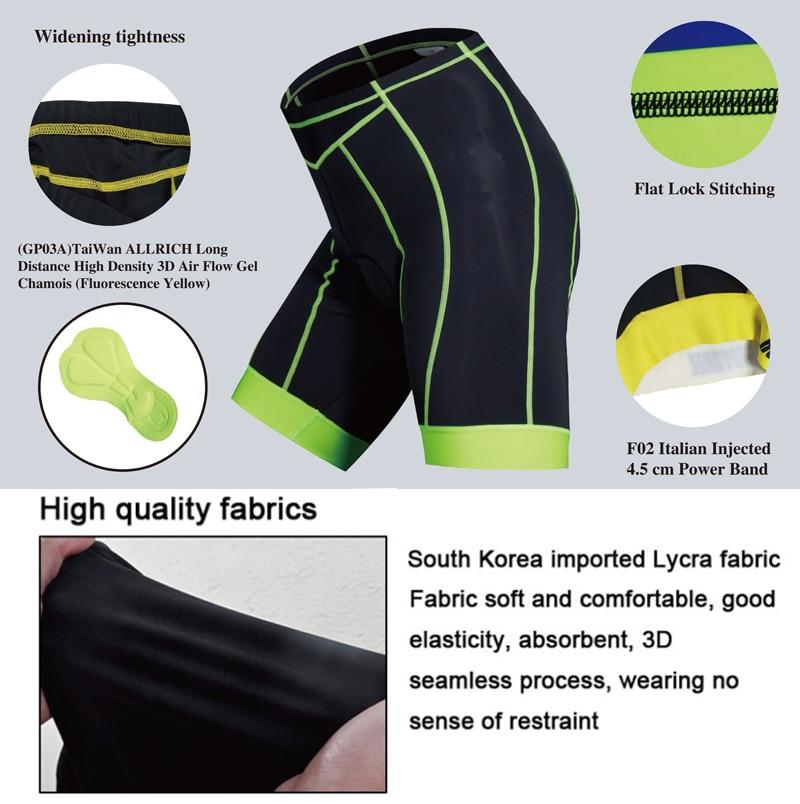 Zangxinglang MTB Road Men's Cycling Race Shorts Mountain Bike/Bicycle 3D Pads Thickening Sports Cycle Wear 9 Size Free Shipping