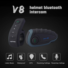 Intercom Motorcycle V8 Bluetooth Intercom/Song NFC Remote Control FM Waterproof 5 Walkie-talkie Duplex Wireless