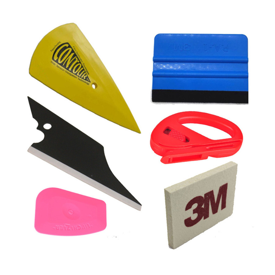 Haitech Car Vinyl Wrap Cutting+Squeegee Tool Application Kits