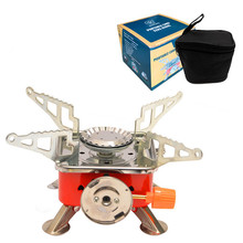 Outdoor gas stove camping barbecue folding electric climbing portable collapsible split
