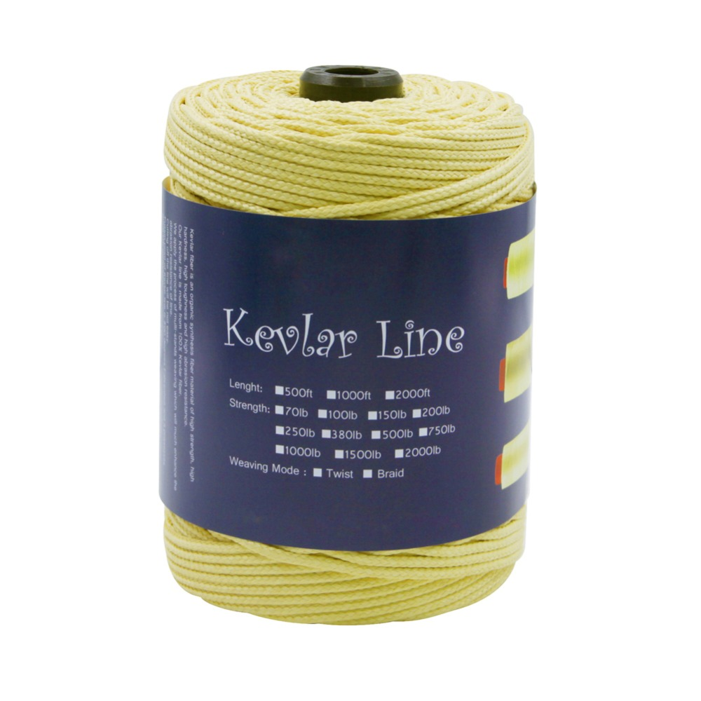 300ft /152M 2000LB Braided Kevlar Line Strong Fishing Line Large Power Stunt Kite Flying Camping Trekking Hanging Rope Cord 4mm 3960lb fishing rope braided fishing line accessories 15m uhmwpe safety survival utility cord large kite line string