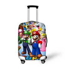 18-32 Inch Mario Sonic Elastic Luggage Protective Cover Trolley Suitcase Protect Dust Bag Case Cartoon Travel Accessories худи print bar mario sonic