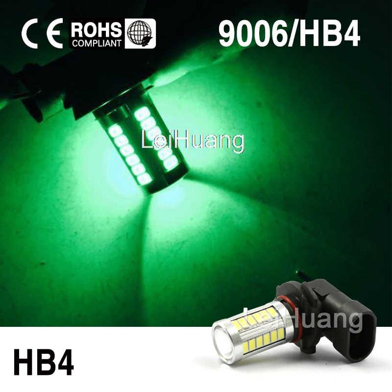 2x9006 HB4 LED הנורה 33 SMD LED שבב רכב ערפל אור 360 תואר DRL ערפל מנורת אור ירוק