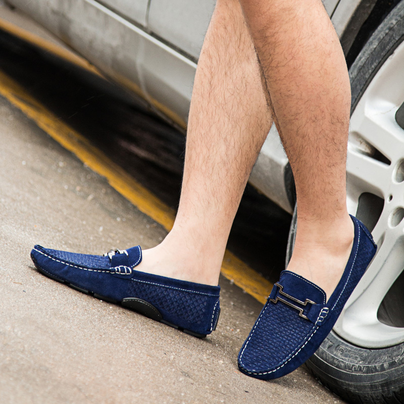 dc75ce1deb Leather Mens Loafers Formal Shoes 2015 Spring Slip On Flats Loafers Casual  Summer Driving Shoes Moccasins Suede Shoes for Man-in Women s Flats from  Shoes on ...