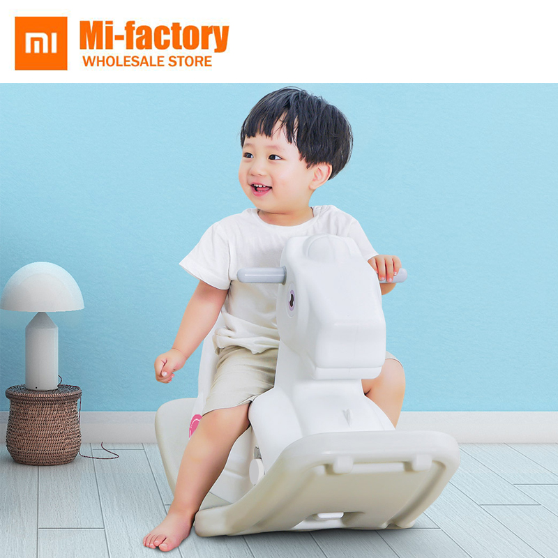 купить Xiaomi HDPE+PP Animals Rocking Horse Musical Rocking Pony Ride Cars Rollers Educational toys Gift for Children Baby Infant Kids