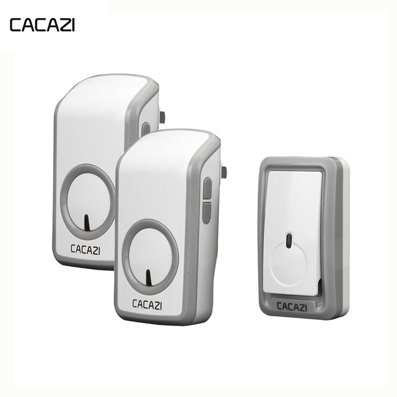 CACAZI Wireless Waterproof Doorbell 350M Remote Battery Button LED Light Home Cordless Bell EU Plug Receiver 48 Chime 6 VolumeCACAZI Wireless Waterproof Doorbell 350M Remote Battery Button LED Light Home Cordless Bell EU Plug Receiver 48 Chime 6 Volume