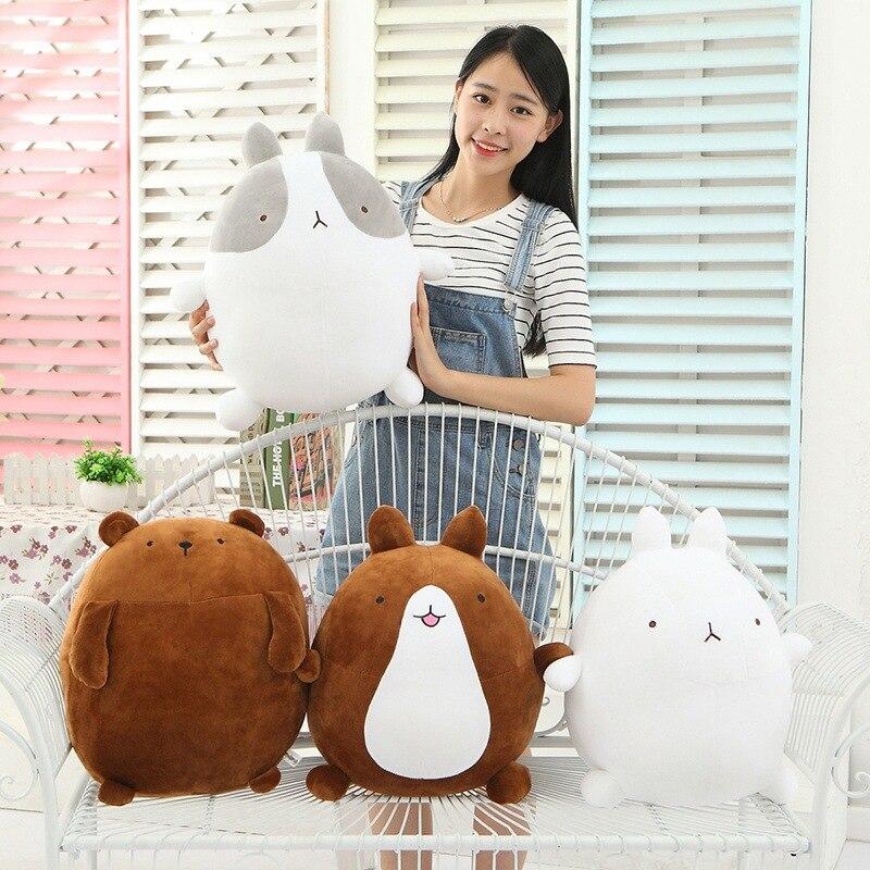 Heiße Nette 25 cm Kaninchen Molang Kartoffeln Bär Weichem Plüsch Spielzeug Puppe schöne Molang Kaninchen Teddybär Kissen Kinder Baby Spielzeug Mädchen Geschenke