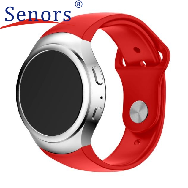Luxury Silicone Watch Band Strap For Samsung Galaxy Gear S2 SM-R720 Smart watch new design 2017 spring hot sale Dec15