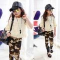 Cute Girl Baby Kids Camouflage Casual Pants Child  Stretch Slim Legging Trousers