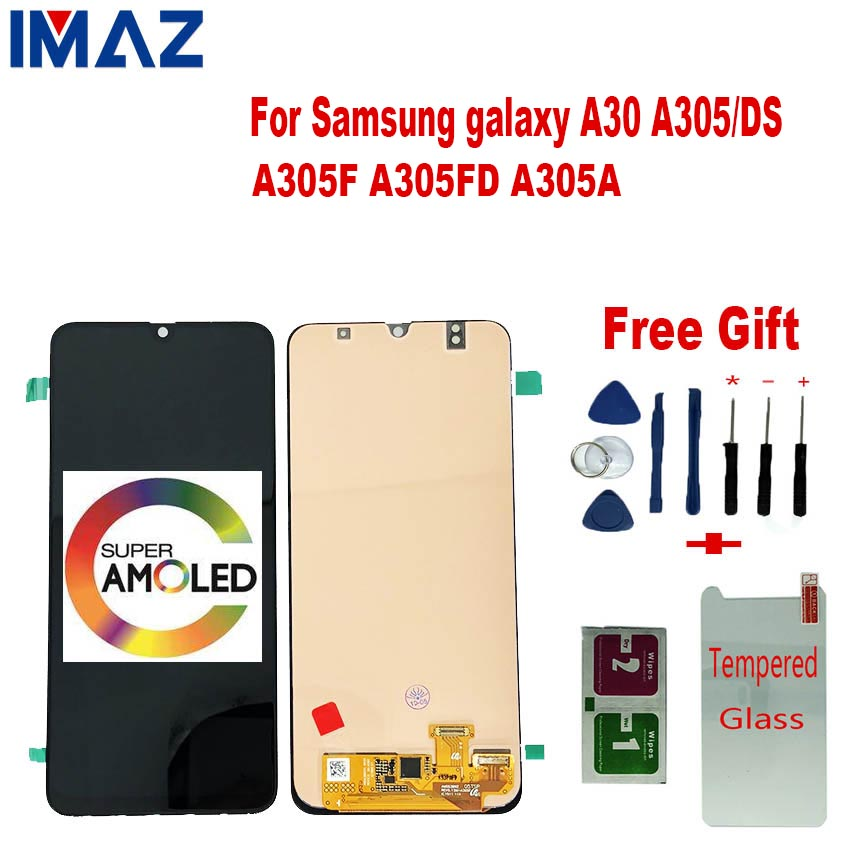 "IMAZ Orignal 6.4"" AMOLED For <font><b>Samsung</b></font> galaxy <font><b>A30</b></font> SM-A305F A305 A305F Touch Screen Digitizer Assembly For <font><b>Samsung</b></font> <font><b>A30</b></font> <font><b>LCD</b></font> + Frame image"