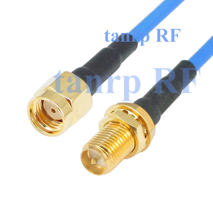 20in RP-SMA male to RP-SMA female jack RF 3G 4G router WIFI 50CM coaxial Sexi Flexible blue jumper extension cable RG405