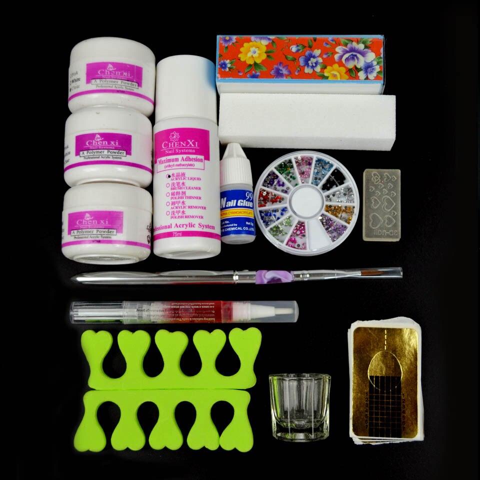 Acrylic Nail Kit 75ml Acrylic Liquid Manicure Set Nail Glitter ...