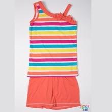 2019 New style summer children girl cool sets cute baby girls sandbeach T-shirt shorts comfort cotton