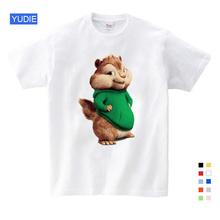 Fashion  Hot Sale ! New Alvin and The Chipmunks Boys Tops Girls Costume Kids Free Shipping YUDIE